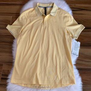 Lululemon men's short sleeve yellow polo shirt XL